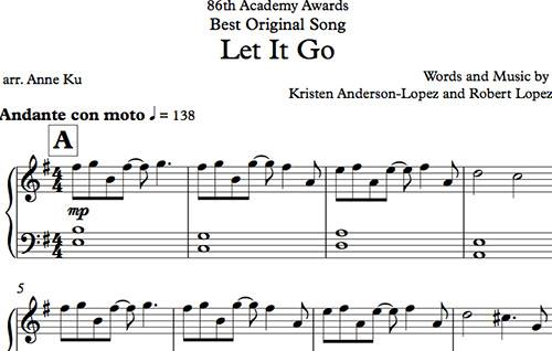 Let It Go for Easy Piano (Free and Complete) | Concert Blog