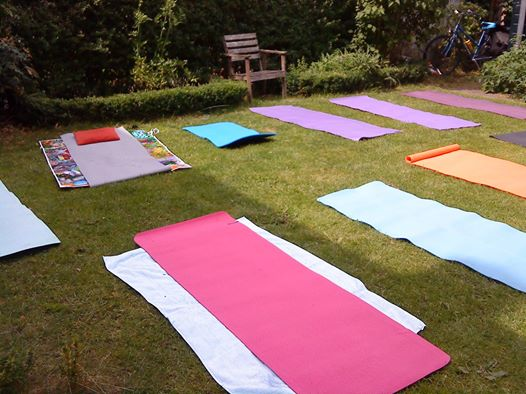 Outdoor yoga in Utrecht, Netherlands, June 2011