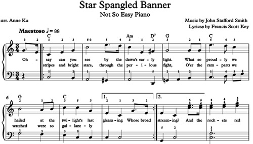 Star Spangled Banner for not so easy piano – Concert Blog