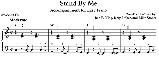 Piano piano chords easy songs : Jukebox Piano Class: Stand By Me for Easy Piano –Anne KuAnne Ku